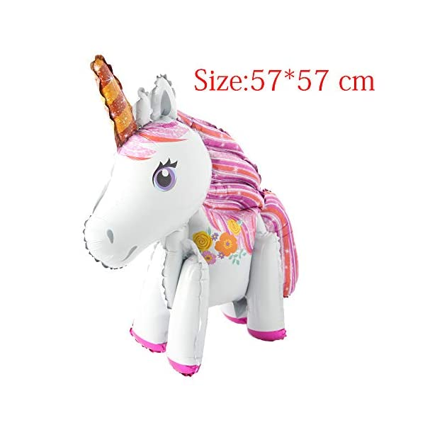 Self Stand steadily Unicorn Birthday Party Decorations Supplies Wedding Engagement Children's Day Foil Unicorn horse… 9