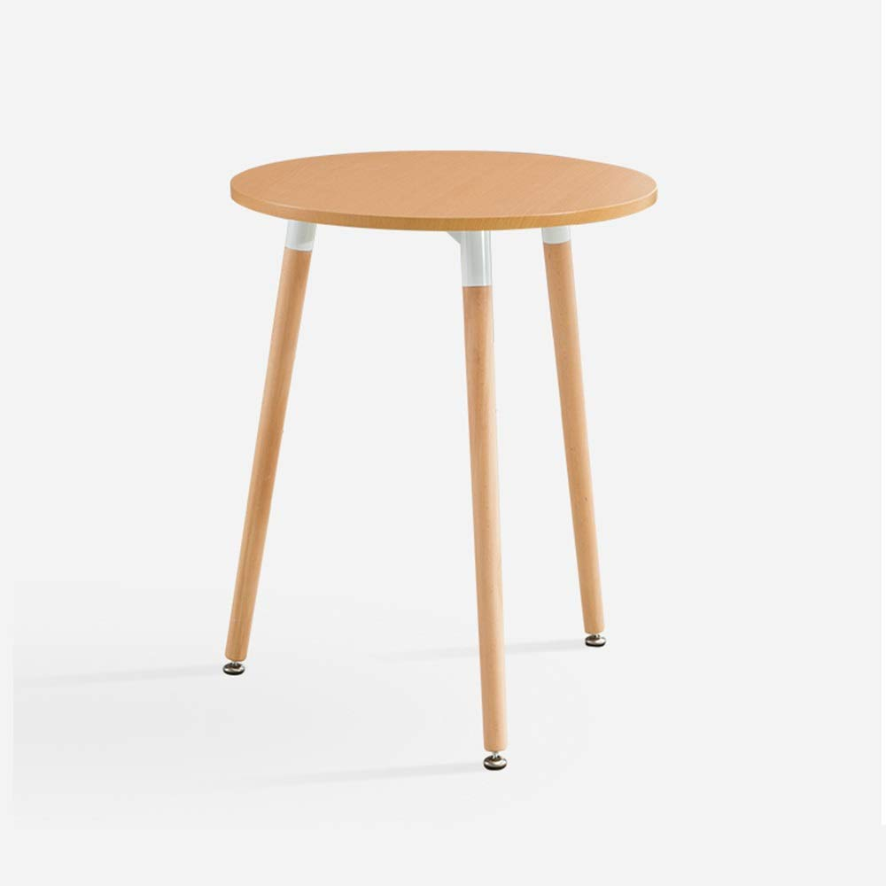 LJHA bianzhuo End Table, Wooden Small Round SideTable Table Coffee Small Tea Table for Living Room Balcony Bedroom, 2 Colors Optional Bedside Tables (Color : A, Size : 70X75CM) by GYH End Table
