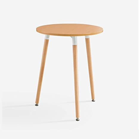 Ljha Bianzhuo End Table Wooden Small Round Sidetable Table Coffee
