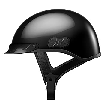 Sena Cavalry Gloss Black Bluetooth Half Helmet (Medium)