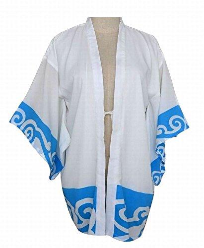 POJ Japanese Samurai Chiffon Jacket (Happi Coat) [ M / L / XL / XXL for Unisex ] (Kkk Costume Pictures)