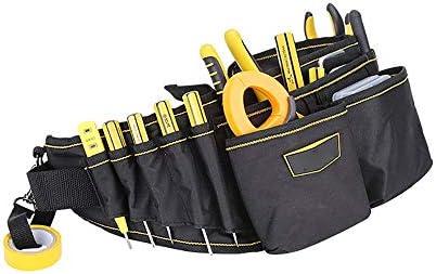 ツールベルト 13個の機能ポケットキャンバスツールベルト大容量ツールエプロンツールオーガナイザーバッグブラック 大工のエプロン (Color : Black, Size : 65x17cm)