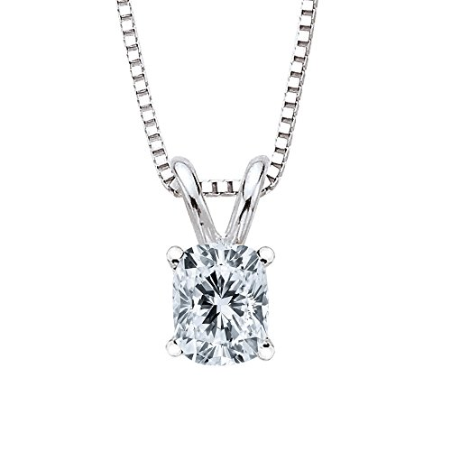 Cushion Loose Round Diamonds (GIA Certified 1.51 ct. G - SI1 Cushion Cut Diamond Solitaire Pendant Necklace in 14K White Gold)