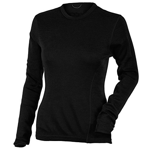 MERIWOOL Women's Merino Wool Midweight Baselayer Crew - (Lightweight Thermal Shirt)