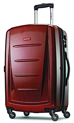 Samsonite Winfield 2 Hardside Expandable Luggage with Spinner Wheels, Burgundy, Checked-Large 28-Inch