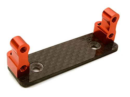 Hpi Servo Mount (Integy RC Hobby OBM23015RED Billet Machined Alloy Servo Mount for Axial 1/10)
