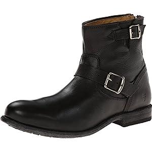 FRYE Men's Tyler Engineer Boot,Black,10 M US