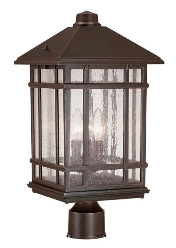 Three Light Outdoor Post Lamp in US - 2