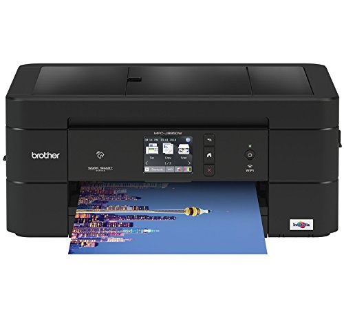 Brother Wireless All-in-One Inkjet Printer, MFC-J895DW, Multi-function Color Printer, Duplex Printing, NFC One Touch to Connect Mobile Printing