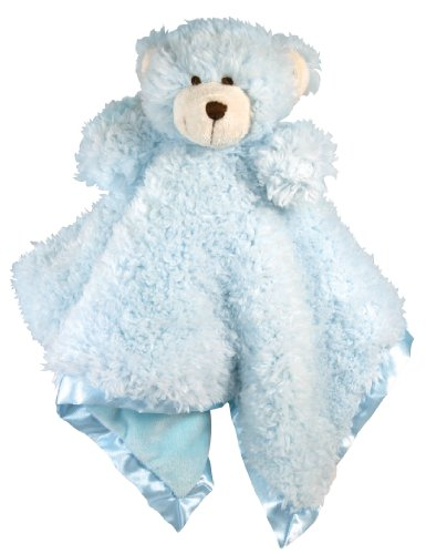 Stephan Baby Plush Cuddle Bud Security Blankie Available in 6 Styles, Blue Bear ()