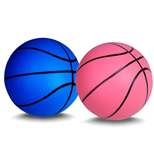 Mini Basketball for Kids Basketballs Baby Toys Ball Indoor Play Game Balls 5.5 Inch - (Baby Team Ball)
