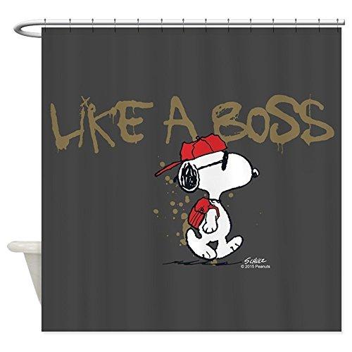 nuohaoshangmao Peanuts Snoopy Like A Boss - Decorative Fabric Shower Curtain (60