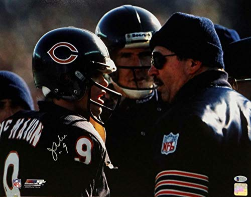 (Jim Mcmahon Autographed Signed Chicago Bears 16x20 Talking With Ditka Photo- Beckett Auth - Certified Signature)