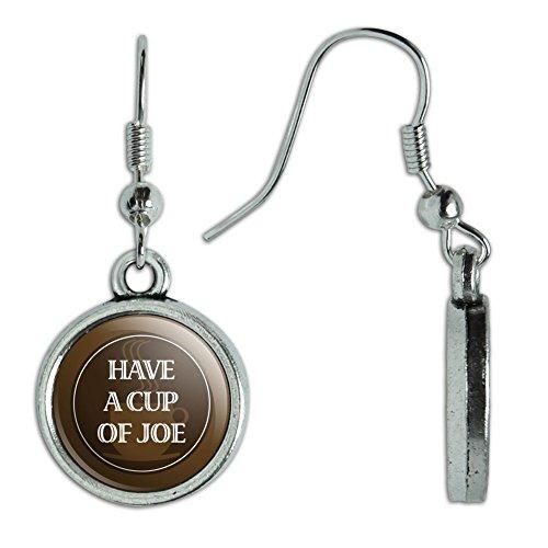 Novelty Dangling Charm Earrings Coffee
