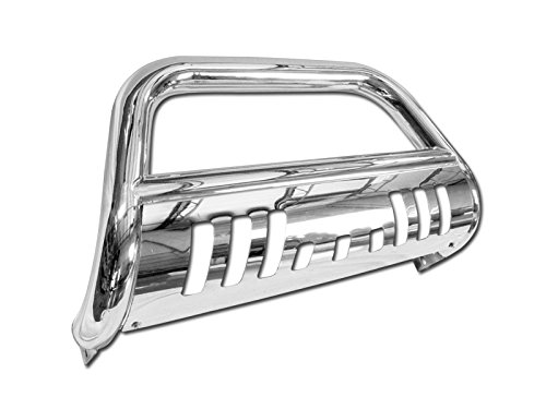 Lexus Grill Guard - HS Power Chrome Heavyduty Bull Bar for Toyota 4runner / Lexus GX470 03-09 Models HD Steel Brush Push Front Bumper Grill Grille Guard