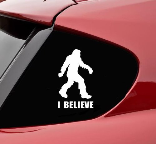 Slap-Art Sasquatch I Believe Bigfoot Funny Vinyl Decal Sticker