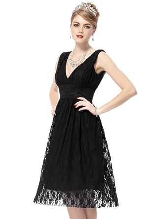 HE03410BK08, Black, 6US, Ever Pretty Short Bridesmaid Dress Women 03410