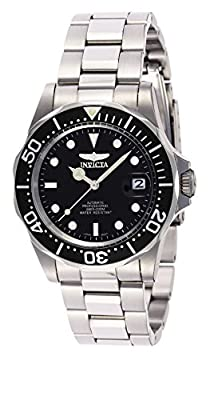 Invicta Men's 8926 Pro Diver Collection Automatic Watch, Silver-Tone/Black Dial/Half Open Back by Invicta