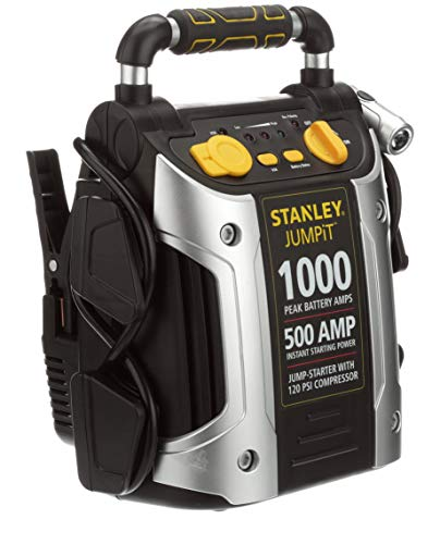 STANLEY J5C09 Power Station Jump Starter: 1000 Peak/500 Instant Amps, 120 PSI Air Compressor, Battery Clamps by STANLEY (Image #9)