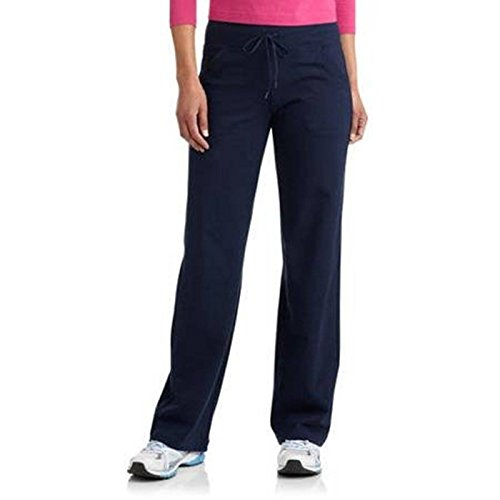 [Danskin Now Womens Dri More Petite Relaxed Pants - Yoga, Fitness, Activewear Navy Medium] (Navy Activewear)