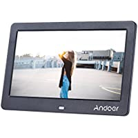 Andoer 10 Inch Wide Screen HD LCD Digital Picture Frame Digital Album High Resolution 1280 x 600 Electronic Photo Frame with Remote Control LCD Clock Calendar MP3 MP4 Movie Player