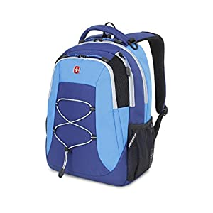 Swiss Gear SA5933 Laptop Computer Tablet Notebook Backpack - for School, Travel, Carry On Luggage, Women, Men, Student, Professional Use - Blue, 19 Inches