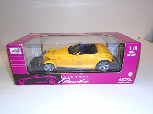 Rod Plymouth Hot - Anson Hot Rod 1/18 Scale Plymouth Prowler (Yellow) Die Cast Metal