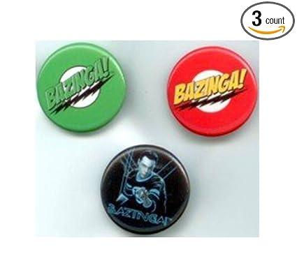 Amazon.com: Big Bang Theory Bazinga 3 Pin Set: Sports & Outdoors