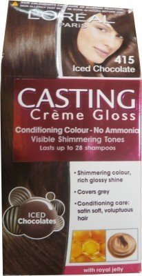 L 'Oreal Paris Casting Creme Gloss Hair Color(iced Chocolate - 415)