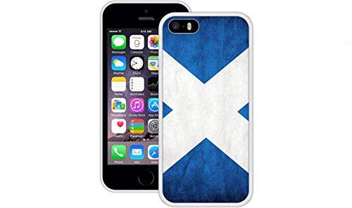 Schottland Flagge | Handgefertigt | iPhone 5 5s SE | Weiß TPU Hülle