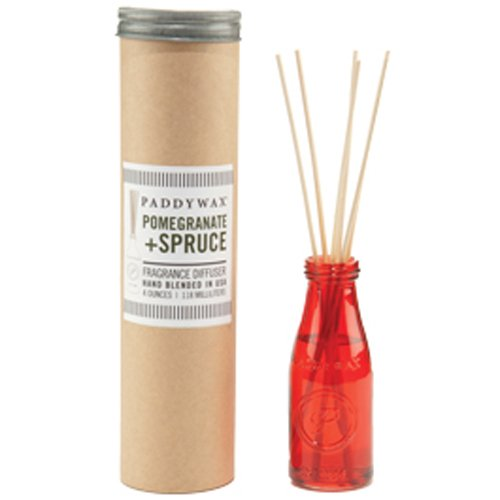 Paddywax Relish Collection Reed Oil Diffuser Set, Pomegranate & Spruce