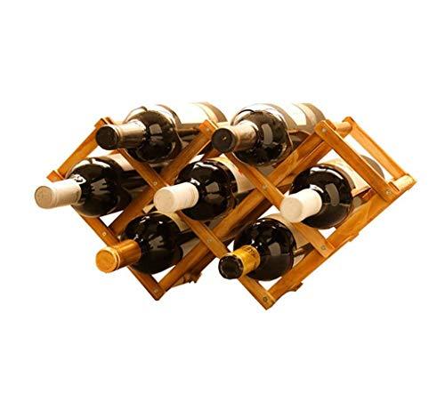 (Waitousanqi 7 Bottles of Wine Rack Solid Wood Independent Bottle Rack / L46cm × H23cm q45)
