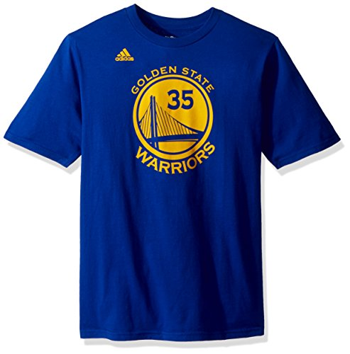 adidas NBA Durant Game Time Name and Number Short Sleeve Tee Flat Print, Golden State Warriors, - Durant Medium Jersey Kevin Youth