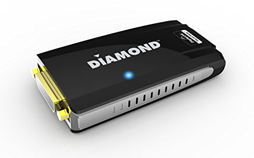 Diamond Multimedia USB 2.0 to VGA / DVI / HDMI Video Graphics Adapter up to 2048x1152 / 1920x1080 - Windows 10, 8.1, 8, 7, XP, MAC OS and Android 5.0 and higher