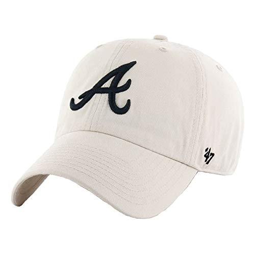 '47 MLB Atlanta Braves Brand White Navy Logo Clean Up Adjustable - Helmet Batting Atlanta Braves Mini