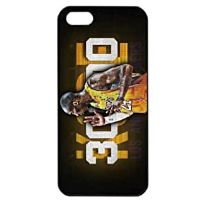 NBA Los Angeles Lakers Kobe Bryant Apple iPhone 5 TPU Soft Black or White case (Black) by supermalls