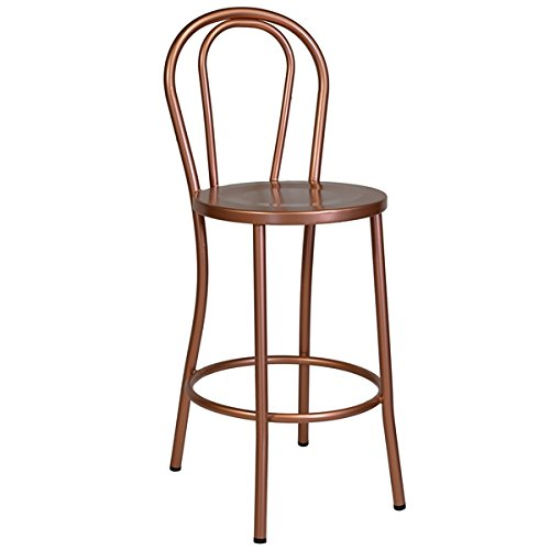 "Design Tree Home No. 18 French Cafe Counter Stool 26"" Seat Height - Copper Metal"