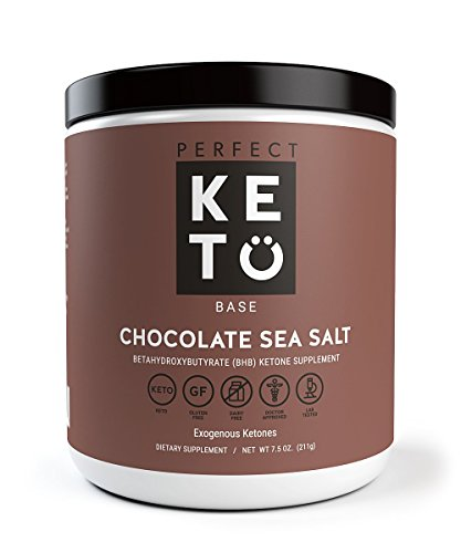 Perfect Keto Base Exogenous Ketone Supplement - Beta-Hydroxybutyrate (BHB) Salts Developed to Burn Fat, Increase Energy and Kickstart Ketosis.(211g) (Chocolate Sea Salt)