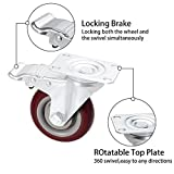 Coocheer 4'' Swivel Caster Wheels 1200lbs With