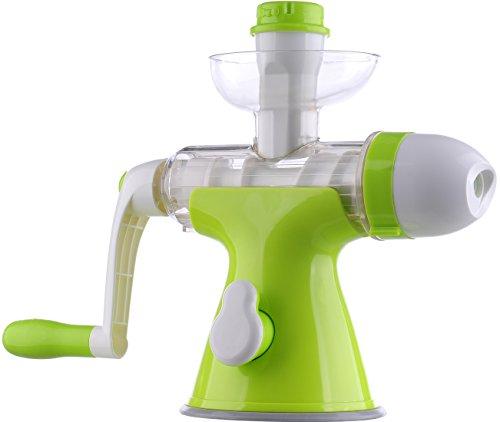 Migecon Manual Juicer Handle Crank Fruit Juice Maker Single Auger Juicer with Suction Base