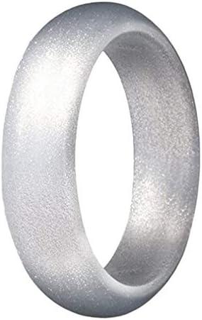 指輪 リング レディース オシャレ シンプル 個性 ファッション プレゼント シリコーン スポーツ アウトドア シルバー アメリカ10号