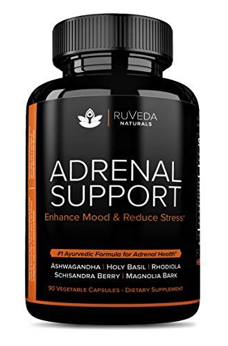 Adrenal Support — Natural Adrenal Fatigue Supplements, Thyroid Support & Cortisol Manager with Ashwagandha Extract, Rhodiola Rosea, Holy Basil for Anxiety Relief, Stress Relief, Natural Sleep Aid