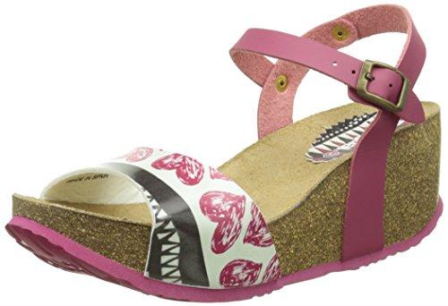Desigual Women's Pink Bio 7 Wedge Sandals UK 6.5 EU 40