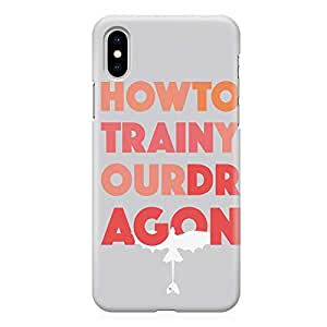 Loud Universe Minimal Typography How to train your dragon iPhone XS Case iPhone XS Cover with 3d Wrap around Edges