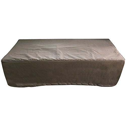 Elementi 60 inch Rectangular Fire Pit Fire Table Cover - Khaki Color by Elementi