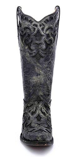Bottes À Épaulettes Snap Métallisé Gris Et Noir Corral Womens A3124 Gris