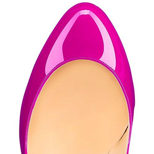 Toe Round High Fashion Women's Dress Pumps Party Stiletto AIWEIYi Peach Heels 6fqtna