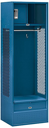 Salsbury Industries Open Access Standard Unassembled Metal Locker, 6-Feet-18-Inch, Blue