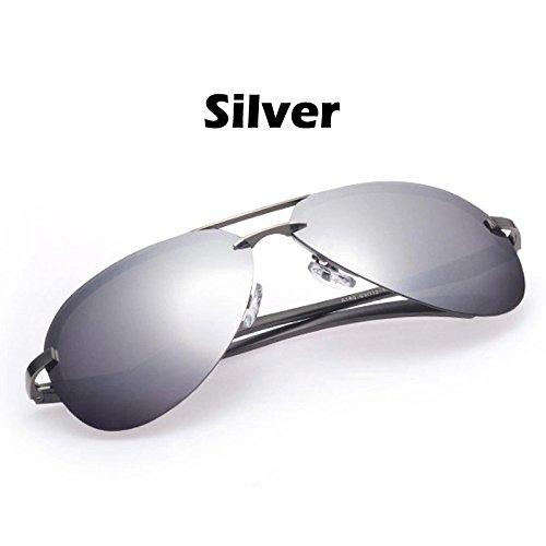 para los Estructura para Argento conductores lentes Oculos polarizado guiar de gafas TIANLIANG04 plata sol de gafas los metal de sol hombres a Color UV400 100 espejo gafas zxqCBYdw