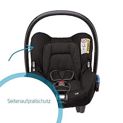 Maxi-Cosi Citi Babyschale, federleichter Baby-Autositz Gruppe 0+ (0-13 kg), nutzbar ab der Geburt bis ca. 12 Monate, Black Raven (schwarz) 4